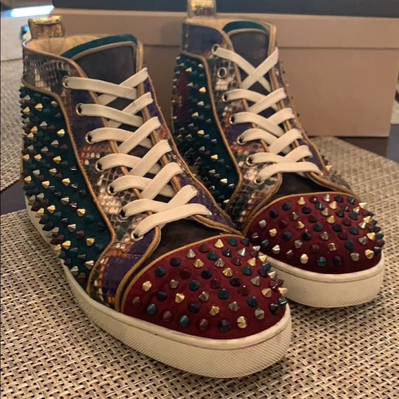 the latest ff2b0 c9e84 Christian Louboutin high top sneakers size 42.5
